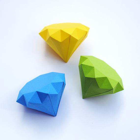 3d diamond template