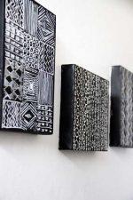 Дизайнерские плюшки. Простая черно-белая настенная живопись